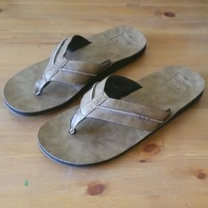 Reef Leather Flip Flops-Mns